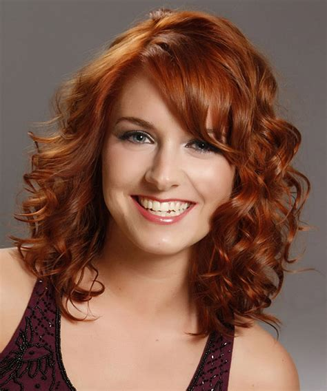 above shoulder length hair cuts with side bangs medium length curly hairstyles with side bangs for brown
