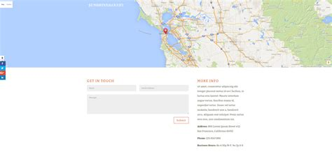 contact us page with map html how to use divi s predefined layouts to their