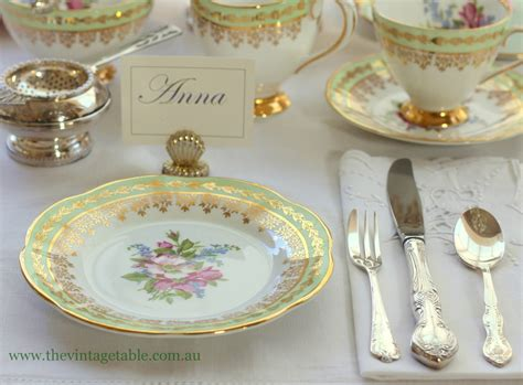Tea Table Setting by Setting The Table Place Settings The Vintage Table