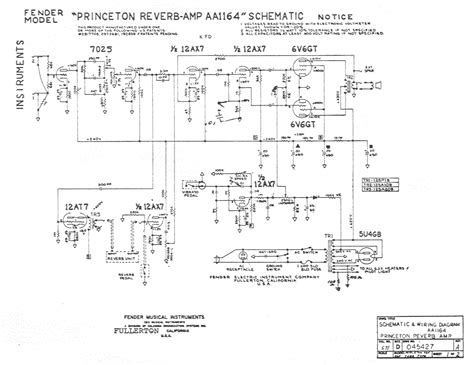 stage center reverb schematic fender princeton reverb amp aa1164 schematic kb 225 pps com