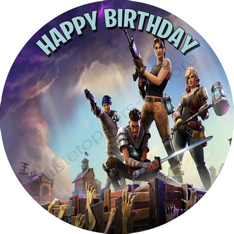 fortnite personalized edible print premium cake topper frosting sheets edible toppers