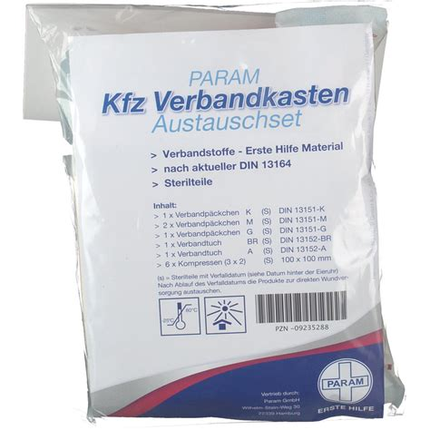 Verbandskasten Auto Apotheke by Param Verbandkasten Austauschset Nach Din 13164 Shop