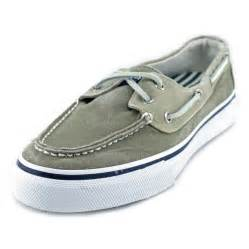 sperry top sider bahama canvas green boat shoe slip ons
