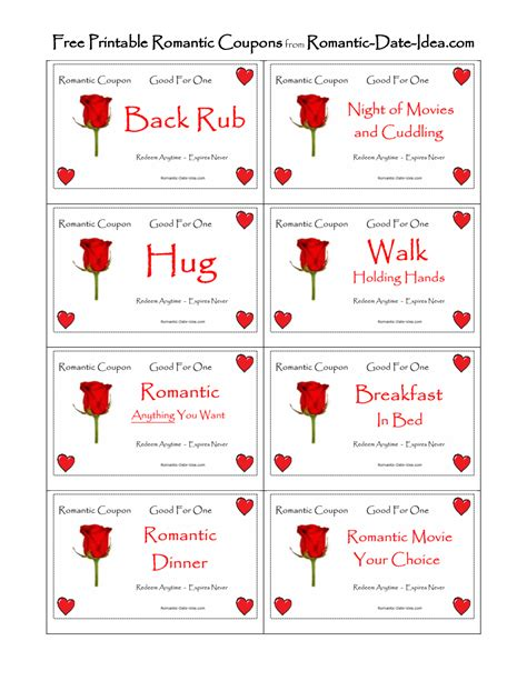 printable intimate love coupons romantic love coupon printable free romantic printables
