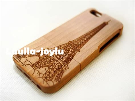 Wood Phone Iphone 5 Custom eiffel tower cherry wood phone 6 plus 6 5c 5s 5 4s 4 personalized wood iphone 6