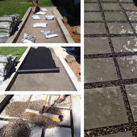 how to set up a flagstone patio design home decorating
