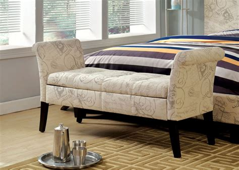 white fabric bench doheny white fabric storage bench from furniture of