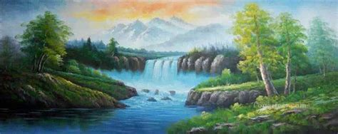bob ross easiest paintings waterfall in summer bob ross landscape painting in for