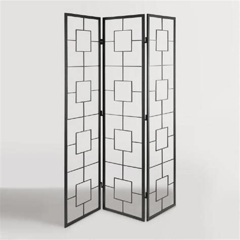metal room divider black metal squares room divider world market