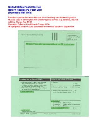 form ps 3811 fill online, printable, fillable, blank
