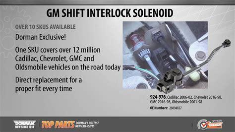 shift interlock solenoid youtube