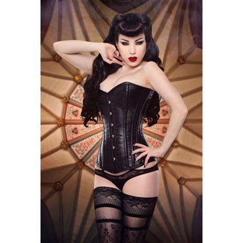 steunk steel boned corset bustier overbust faux leather halter waist cincher top steunko embossed faux leather overbust steel boned corset