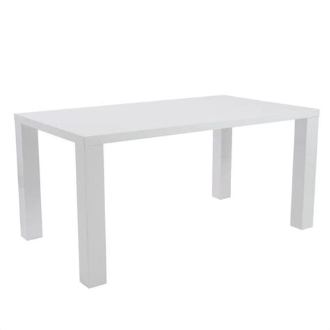 eurostyle abby 63 quot rectangular white lacquer dining table