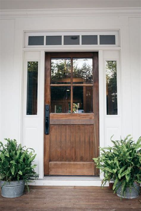 Farmhouse Entry Door by 20 Beautifully Classic Farmhouse Stained Wood Doors