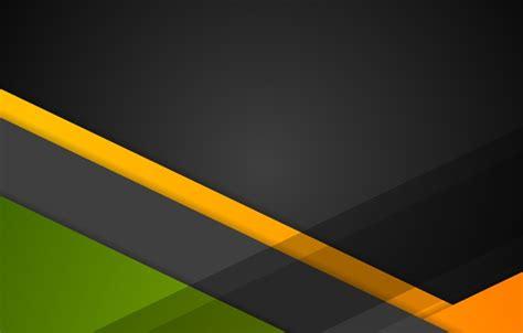 Wallpaper line, green, geometry, black, design, orange