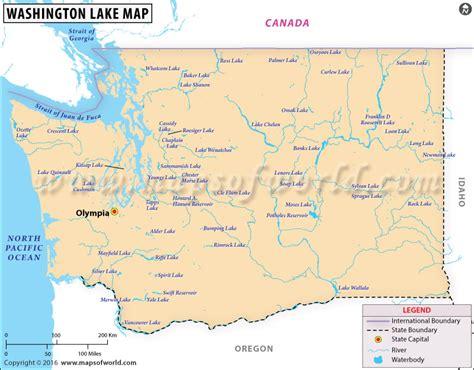 washington state usa map washington lakes map lakes in washington state