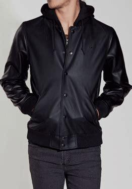 Jaket Semi Kulit Berkualitas Tinggi Menerima Preorder jaket kulit varsity hoodie jaket hoodie jkv000 kip s style
