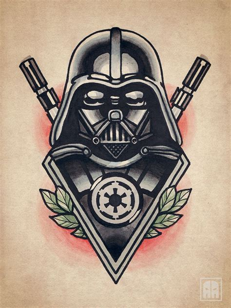 tattoo old school star wars tattoo traditional sevastopol ageevtattoo sketch