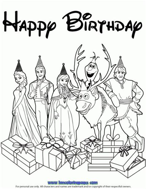 happy birthday anna coloring pages 10 images about disney frozen birthday coloring pages on