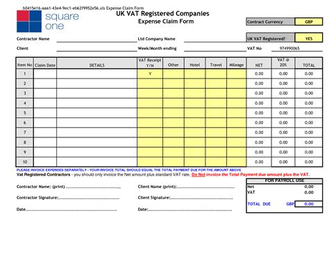 excel expense templates best photos of expenses claim form template excel