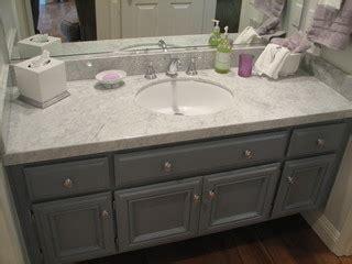 grey  white guest bath updatecarrera marble calabasas