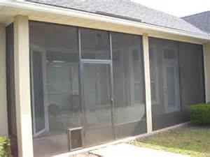 Screen Doggie Doors Patio by Tampa Bay Rescreens Quality Work At A Fair Price