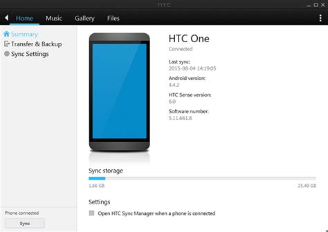 How to Backup and Restore Data with HTC Sync Manager