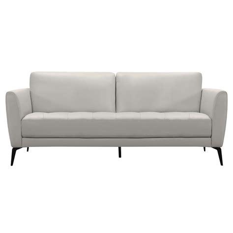 dove grey leather sofa armen living armen living genuine dove grey leather