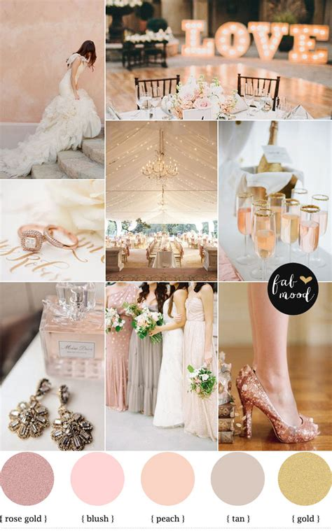wedding themes rose gold rose blush gold wedding theme wedding color palette