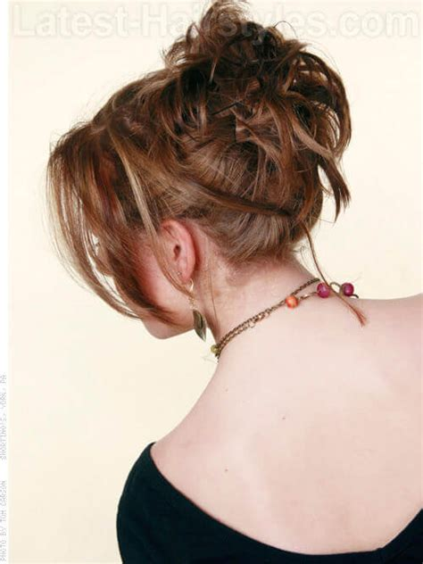 medium length piecy hair 11 totally chic short hair updos which one suits you best