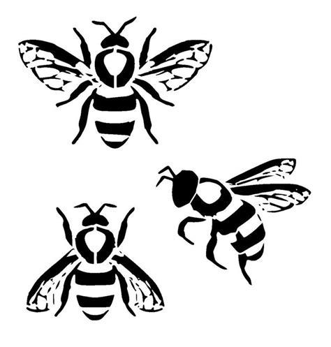 Karpet Set Motif Bee Lebah bumble bee s stencil stencils stenciling