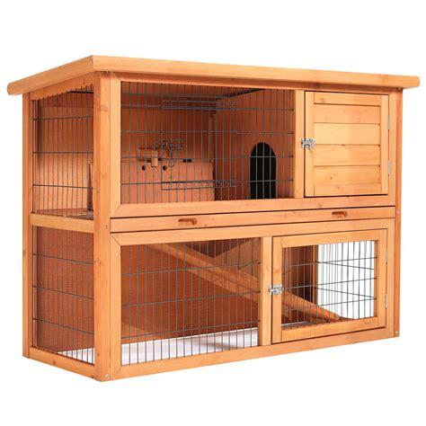 Rabbit Hutch Wood 48 quot wooden wood rabbit hutch ebay