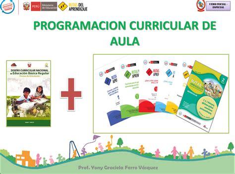 programacin curricular con rutas de aprendizaje inicial 2016 dre cusco febrero 2014
