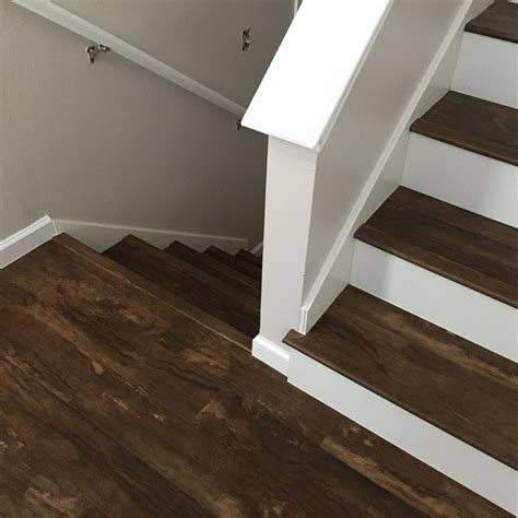 luxury vinyl plank on stairs luxury vinyl plank vinyl tile pinterest luxury vinyl plank