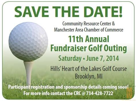Golf The Manchester Mirror Fundraiser Save The Date Templates
