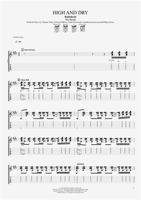 Fancy High And Dry Chords Embellishment - Beginner Guitar Piano ...