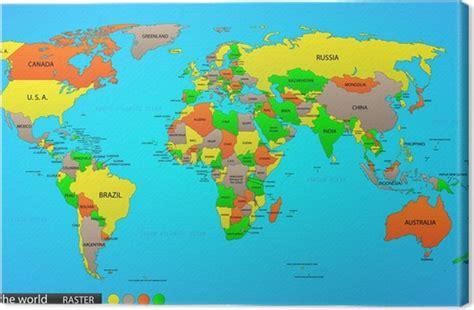 cuadros mapamundi cuadro en lienzo mapamundi politico pixers 174 vivimos
