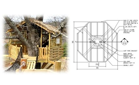 hexagon tree house plans 8 octagon treehouse plan standard treehouse plans