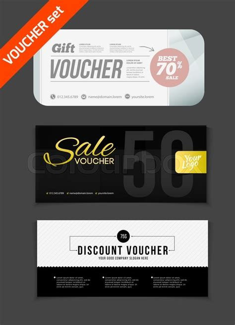printable vouchers to use in store gift voucher vector set sale voucher vector illustration