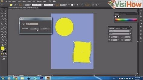 adobe illustrator cs6 quiz twist objects in adobe illustrator cs6 visihow