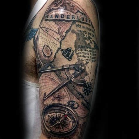 70 wanderlust tattoo designs for men travel inspired ink