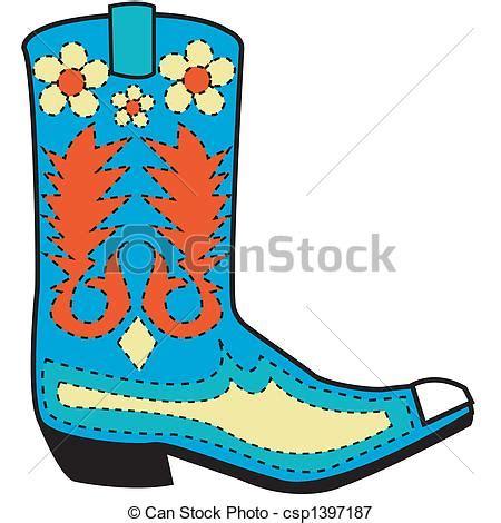 imagenes vaqueras en caricatura ilustraciones vectoriales de bota arte occidental clip