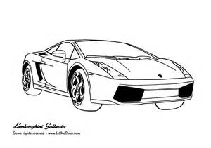 Coloring Pages Of Lamborghini Coloring Cars Letmecolor