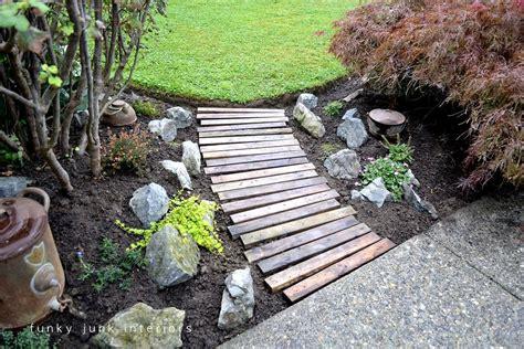 wood backyard a pallet wood garden walkwayfunky junk interiors