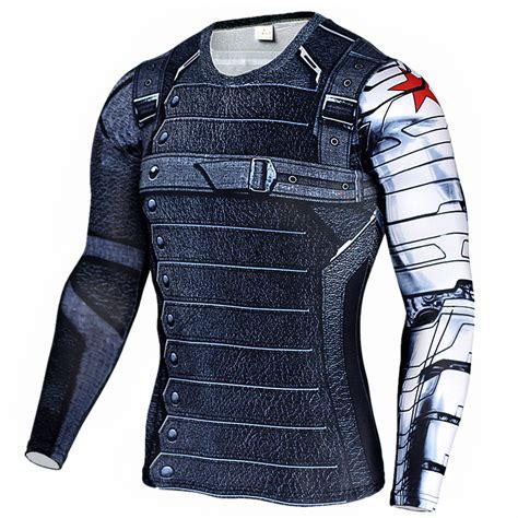 Sweater Soldiern Wars Redmerch 2017 compression shirt winter soldier t shirt lycra 3d