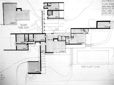 kaufmann desert house floor plan erin urffer design 2 architectural studies 14 on