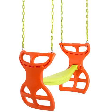 home depot glider swing swing n slide playsets dual ride glider swing ne 3452