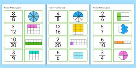 design by humans uk equivalent fractions matching cards fractions matching cards matching