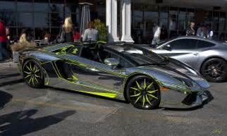 Chrome Wrapped Lamborghini Lamborghini Avantador Wrap Vinyl Chrome Wallpaper