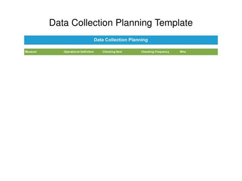data collection plan template ppt lean six sigma yellow belt templates powerpoint